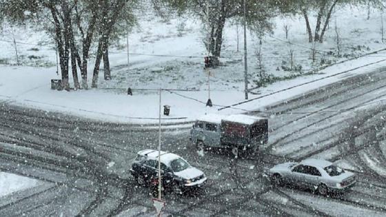 Снег в Талдыкоргане