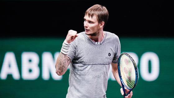 Казахстанский теннисист Александр Бублик