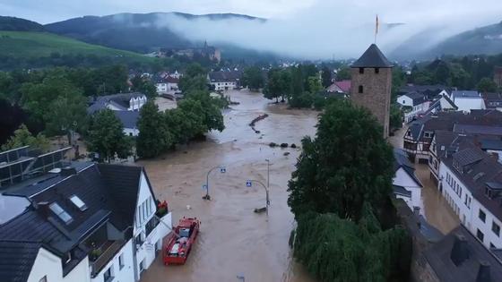 Наводнение на юго-западе Германии
