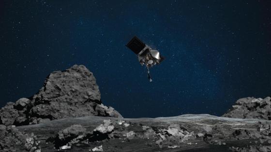 Зонд NASA на астероиде Бенну