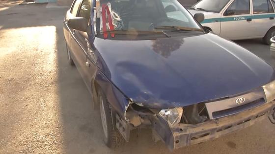 Автомобиль, на котором сбили пешехода