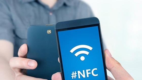 nfc на экране смартфона