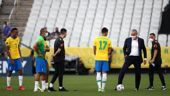 Матч Бразилия - Аргентина остановлен