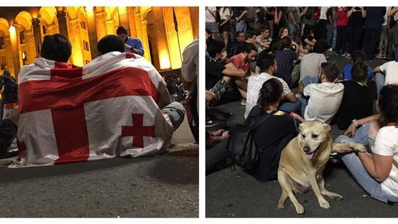 протесты в Грузии