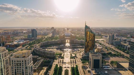 вид на город Нур-Султан