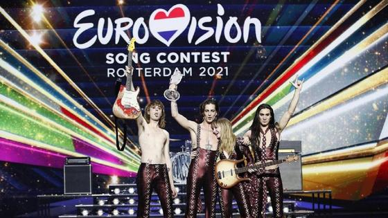 "Представители Италии Måneskin на ""Евровидении-2021"""