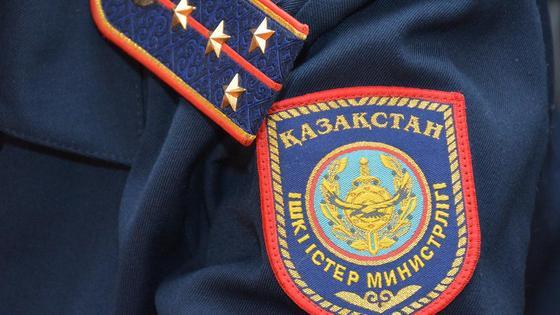 Форма казахстанского полицейского