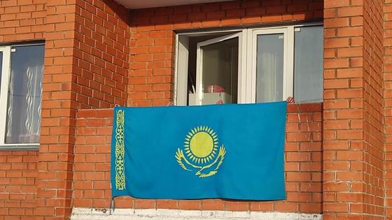 Флаги вывесили в СКО
