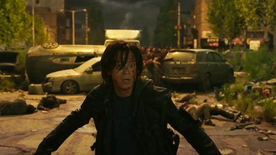 Кадр из фильма «Поезд в Пусан 2: Полуостров»