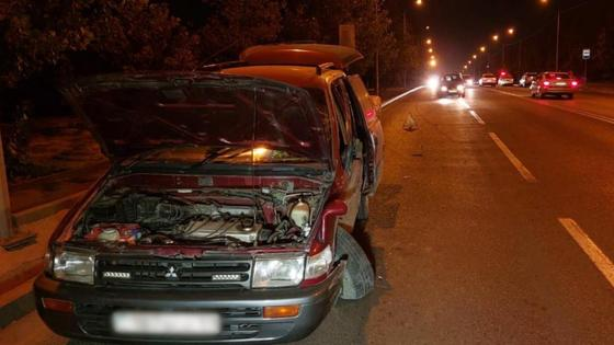 Автомобиль на месте происшествия