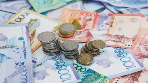 Денежная валюта Казахстана разного номинала
