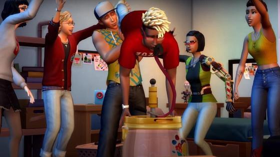 кадр из игры sims