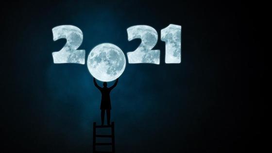 Луна и цифры 2021