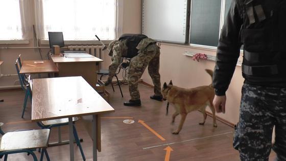 Сапер проверяет кабинет в школе
