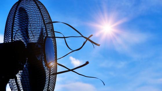 Вентилятор под палящим солнцем