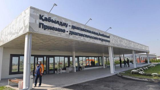 Приемно-диагностическое отделение нового госпиталя в Алматы