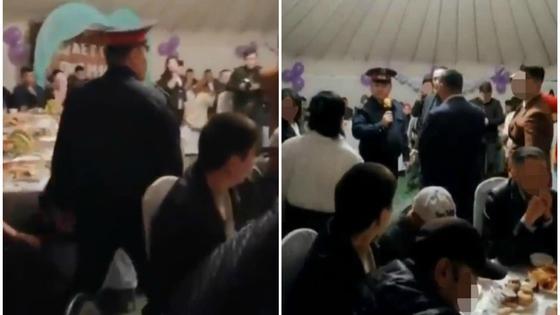 Тамада в форме полицейского пришел на той в Караганде