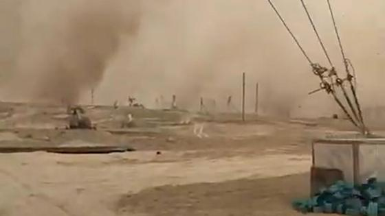 Пыльная буря надвигается на Жанаозен