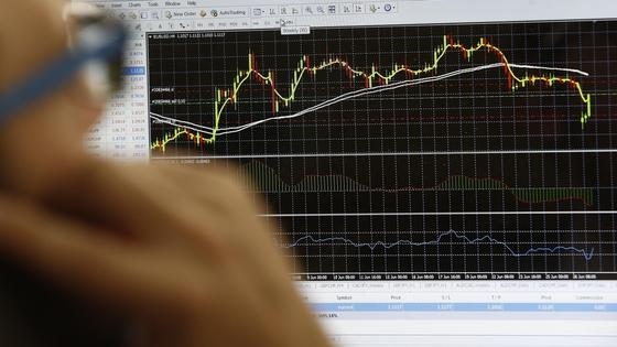 экран с биржей
