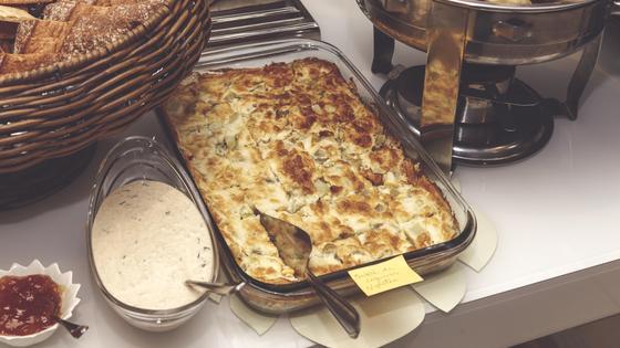 Заливной пирог с картошкой и грибами