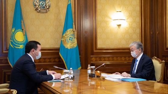 Касым-Жомарт Токаев и Женис Касымбек