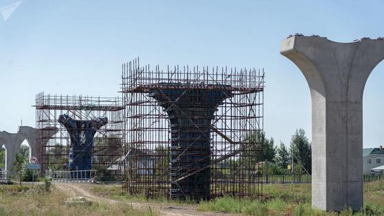 Конструкции, возведенные для строительства Astana LRt