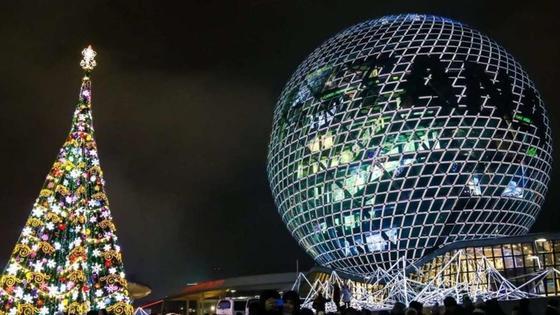 Новогодняя елка в Астане