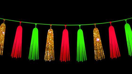 Новогодняя гирлянда-бахрома