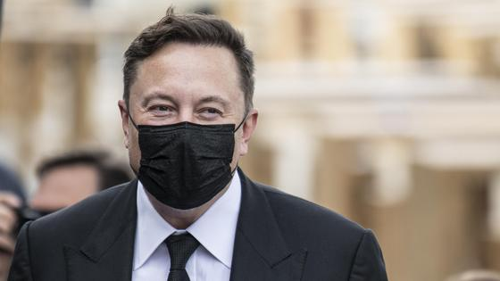 Илон Маск в маске