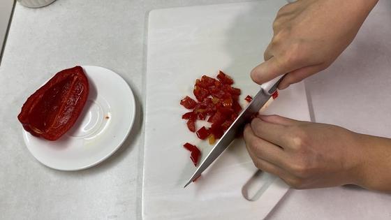 Нарезание болгарского перца