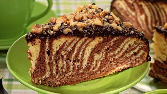 Пирог Зебра а тарелк