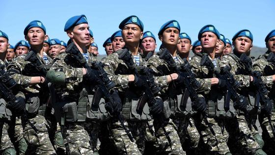 Воины на параде