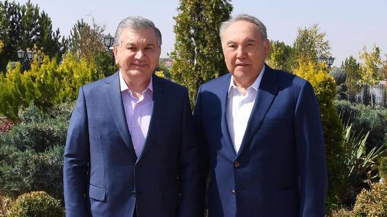 Нурсултан Назарбаев и Шавкат Мирзиеев