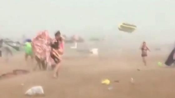 Сильный ветер в Капшагае