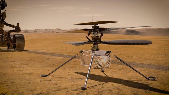 Вертолет Ingenuity на Марсе