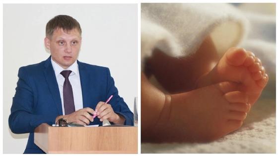 Денис Петрухно и младенец