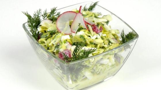 Овощной салат на масле